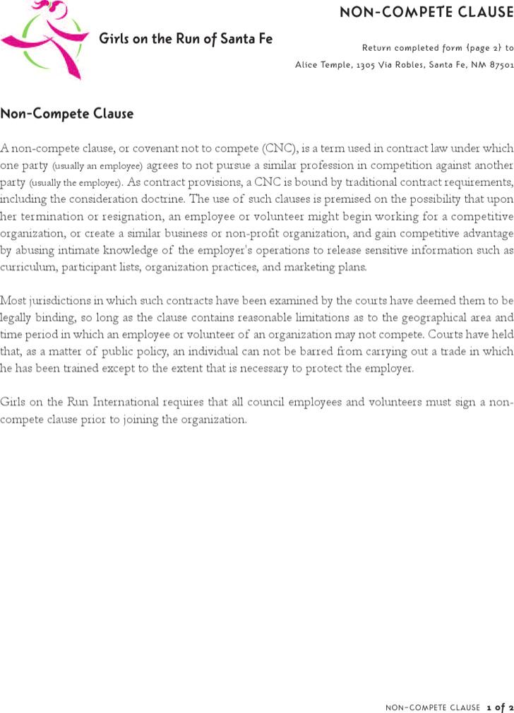 Company Non-Compete Agreement