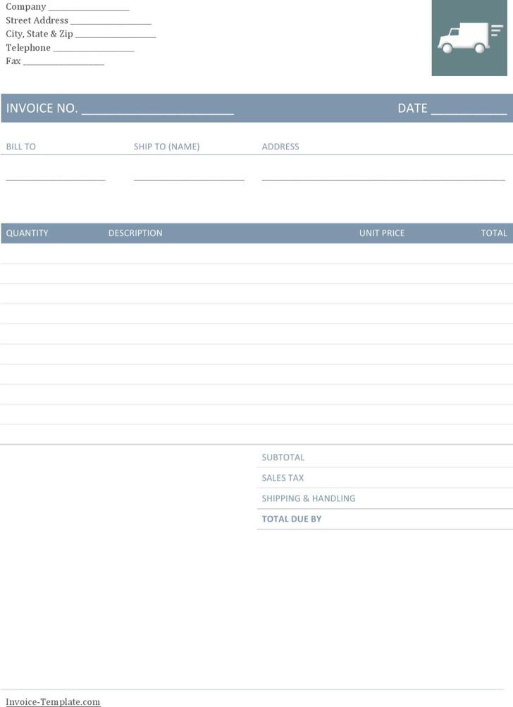 Company Trucking Invoice Template
