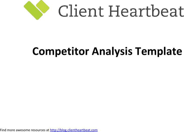 Customer Analysis Templates – Competitors Analysis Template
