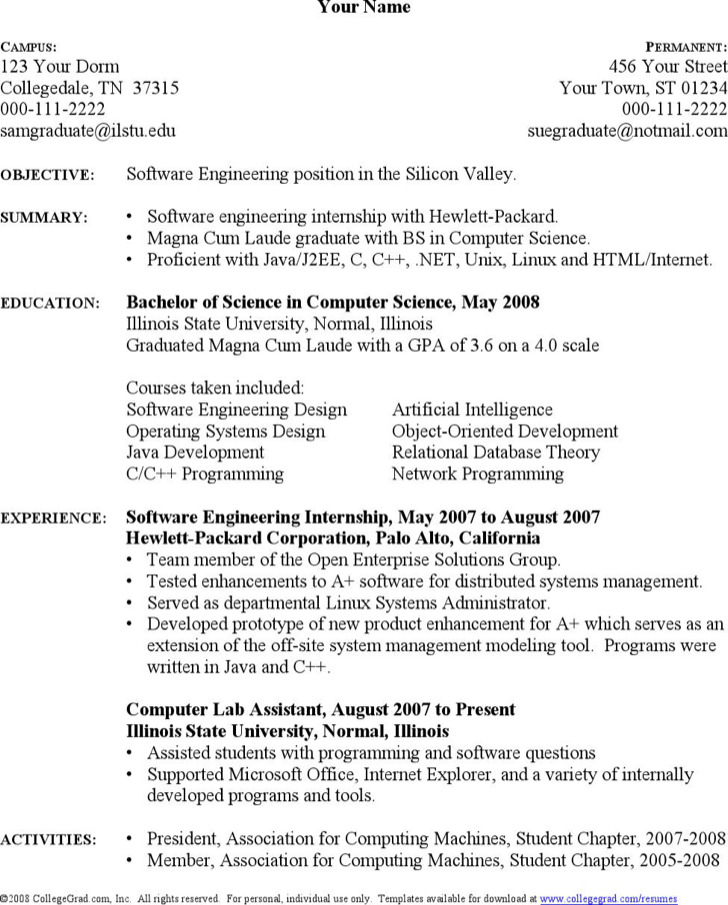 Computer Science Resume Templates | Download Free & Premium