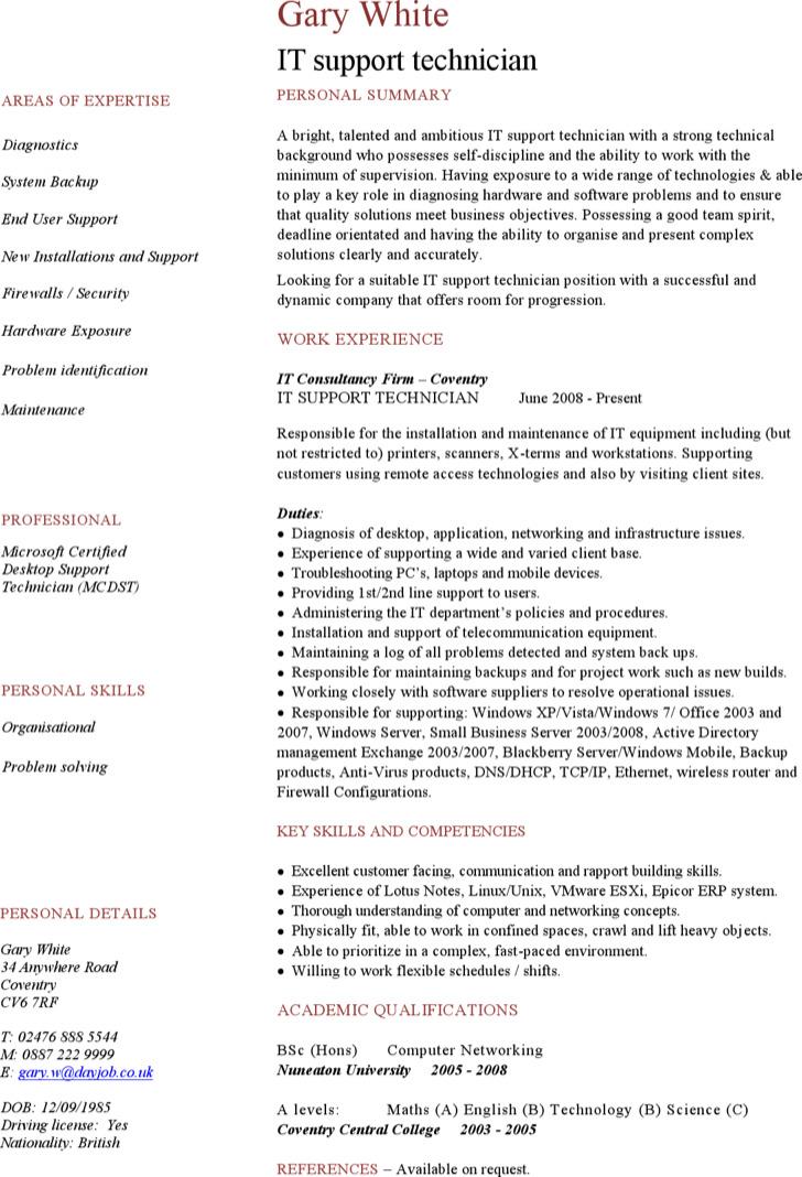 computer technician resume - Computer Technician Resume