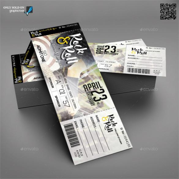 Concert & Event Tickets Template PSD Format