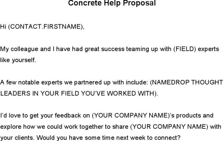 Concrete Help Proposal