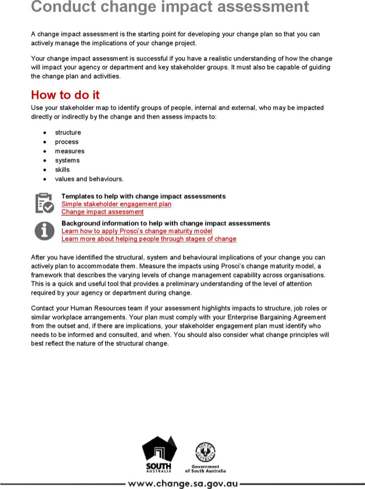 Conducting Change Impact Assessment