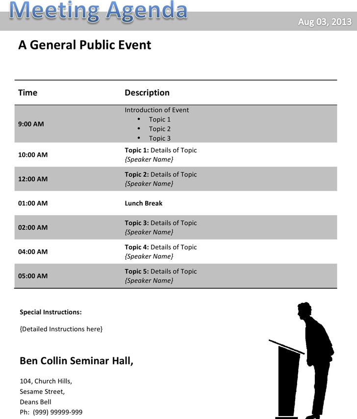 Conference Agenda Template  Download Free  Premium Templates