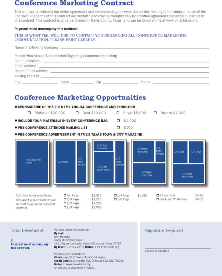 Conference Marketing Contract