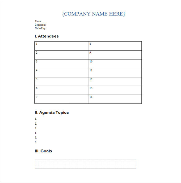Conference Meeting Invitation Template Example