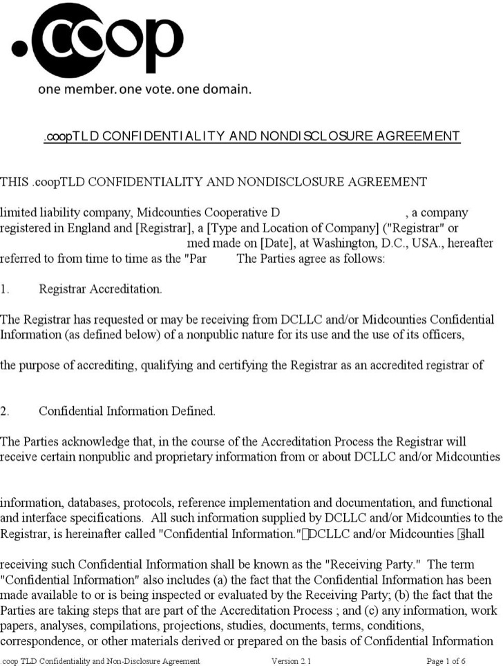 Mutual Non Disclosure Agreement Form | Download Free & Premium