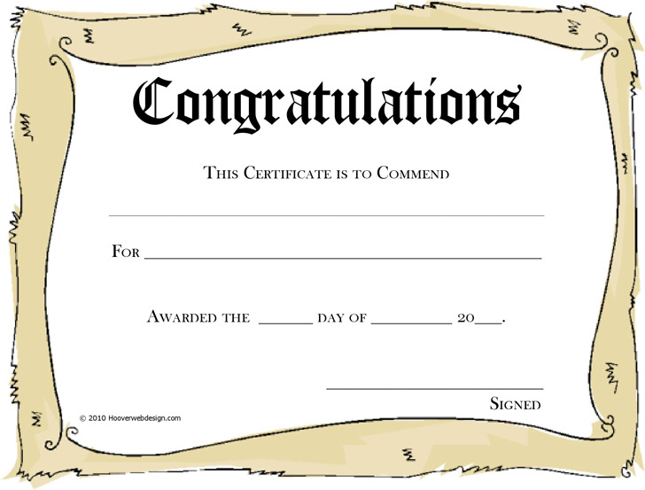 Congratulations Certificate 3