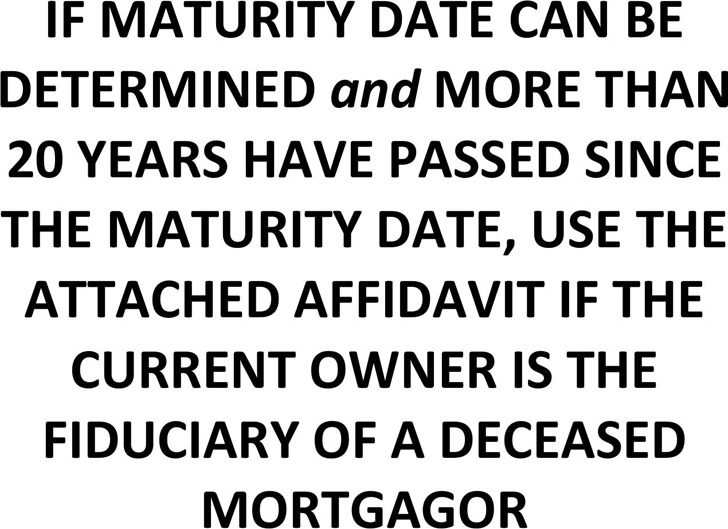 Connecticut Affidavit (Fiduciary for Deceased Mortgagor) Form