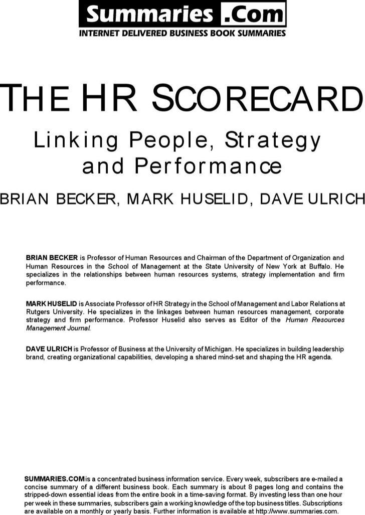Construction Hr Scorecard Sample Template