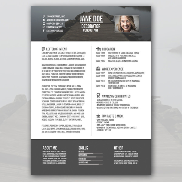 creative resume template download free premium templates - Creative Resume Template Download Free