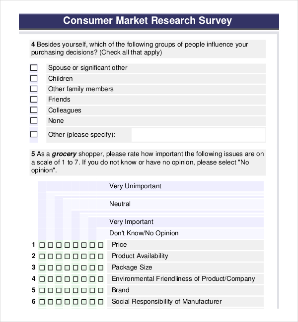 Attractive Free Resident Food Survey Template For PDF U2013 Page 60