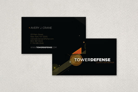 Contemporary Technology Business Card Template
