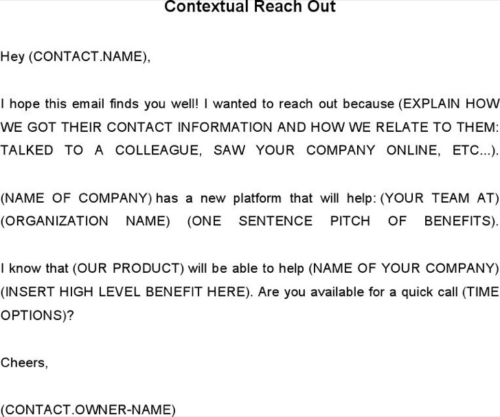 Contextual Reach Out