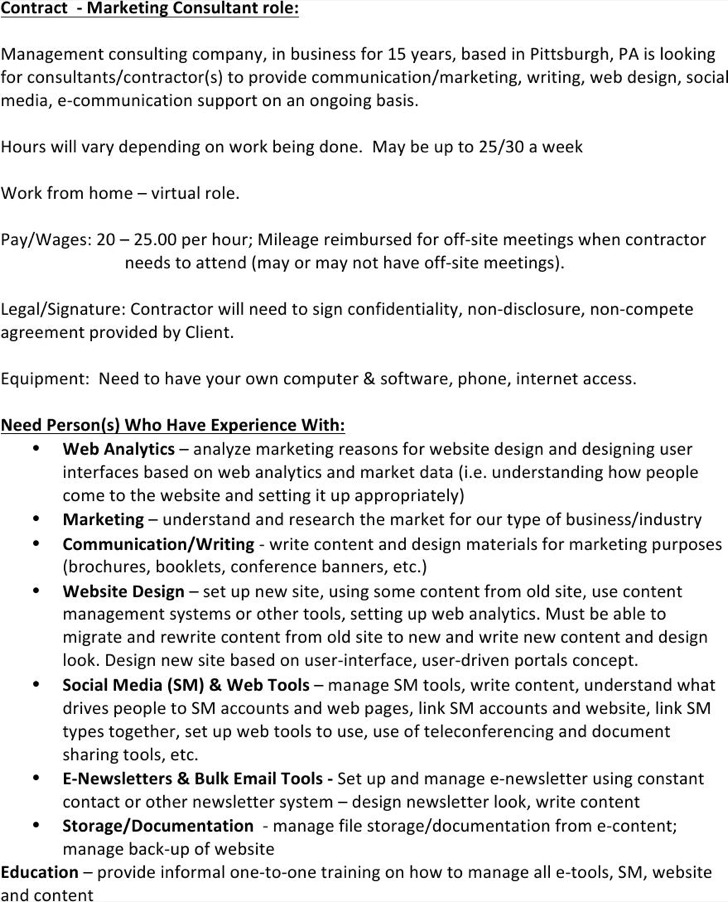 Marketing Agreement International Marketing Contract  Sample