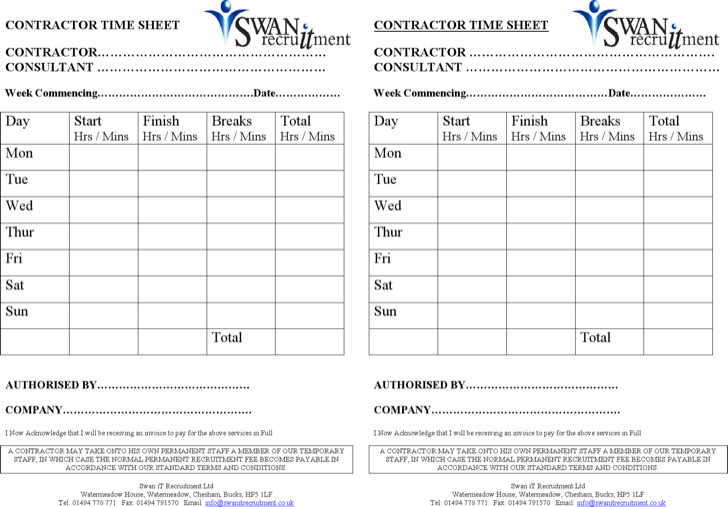 Timesheet Templates Free Weekly Timesheet Template Free Download