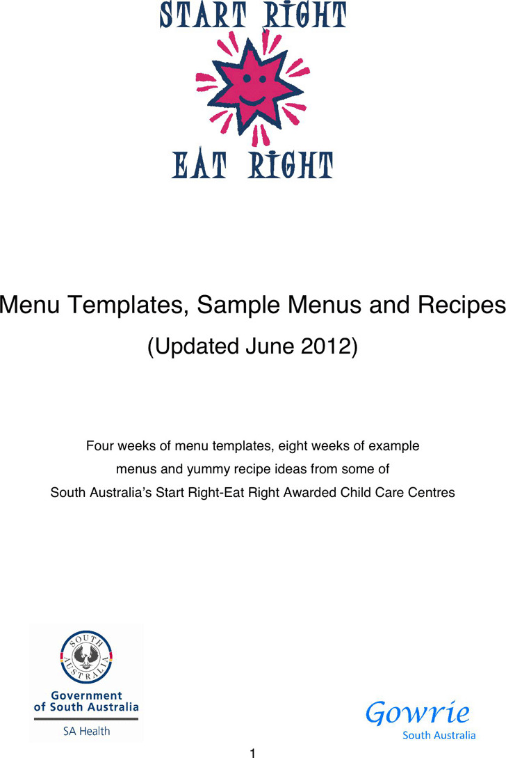 Cookbook Template | Download Free & Premium Templates, Forms ...