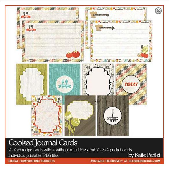 Cooked Printable Journal Recipe Download