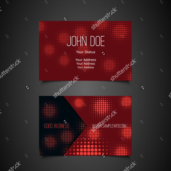 Cool Business Card with Dotted Abstract Pattern