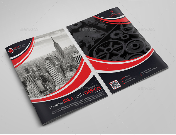 Corporate Bi Fold Brochure PSD