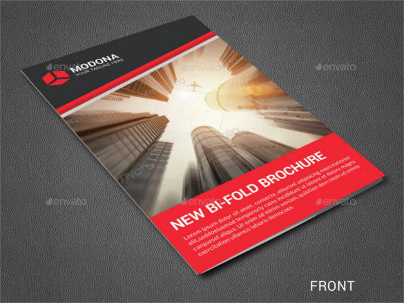 Corporate Bi-fold Brochure Template PDF Format