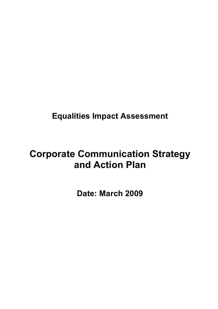Corporate Communication Strategy Action Plan DOC Download