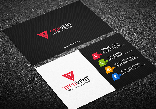 Corporate Glossy Business Card Template