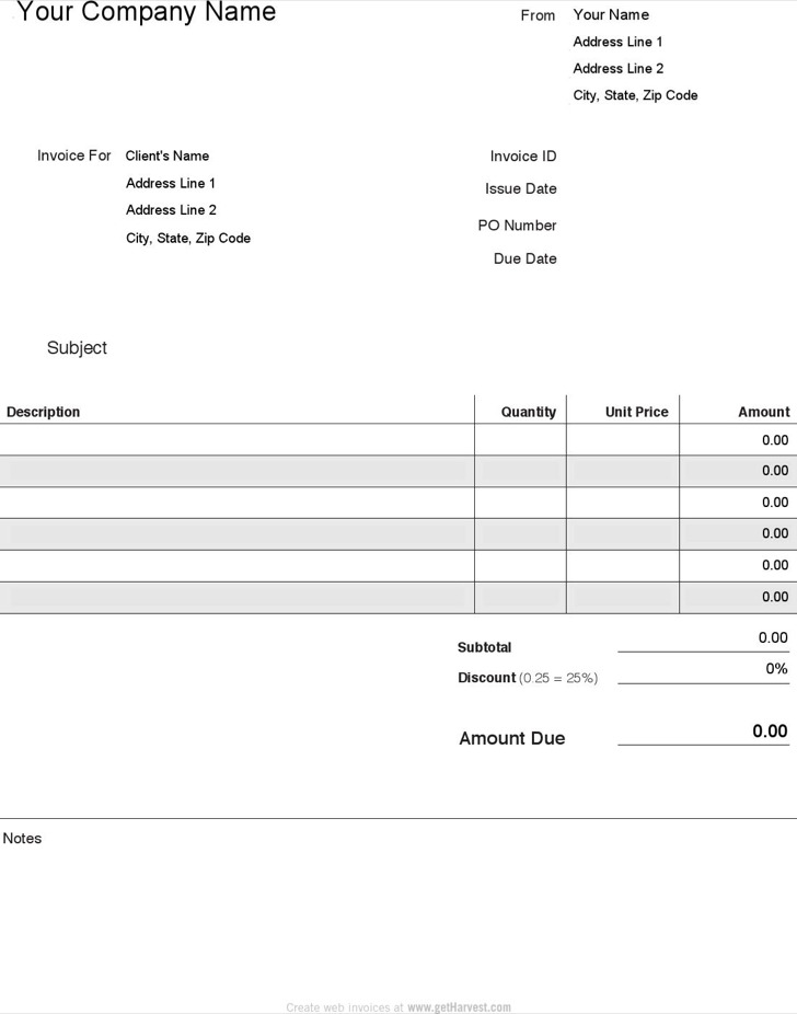 Professional Invoice Templates  Download Free  Premium Templates