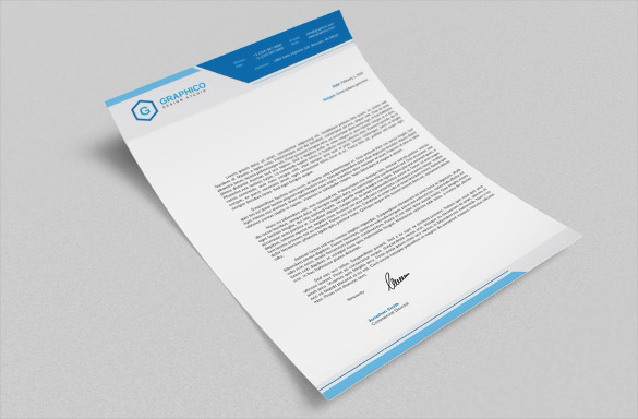 Corporate Letterhead Design Example Template