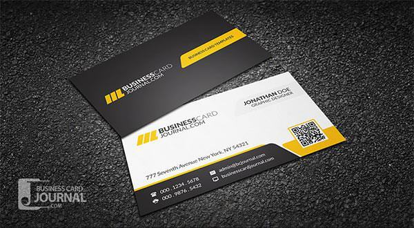 Corporate Professional QR Code Business Card Template