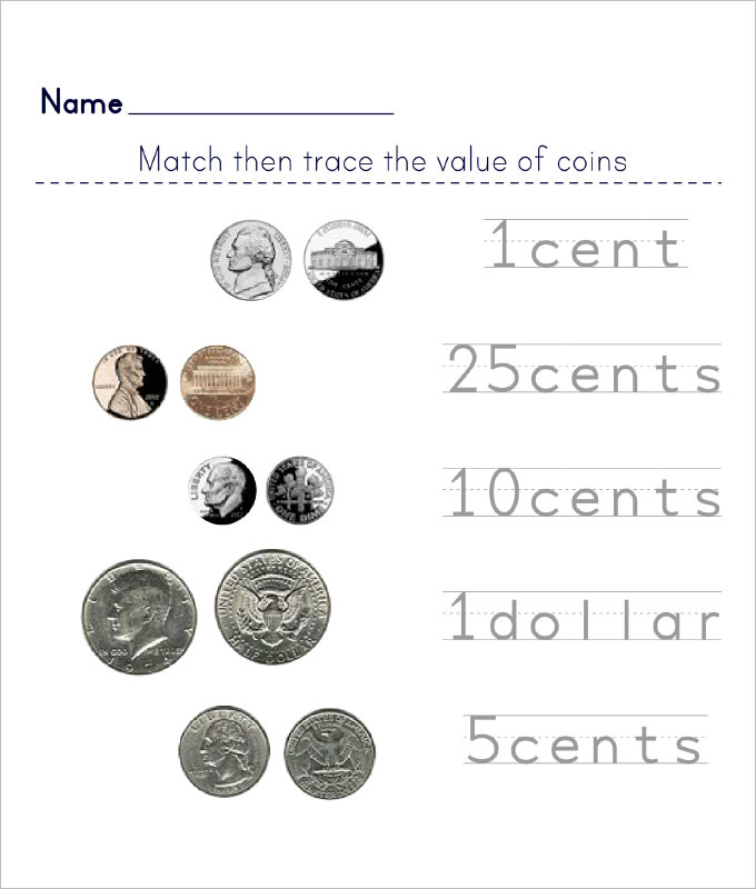 Counting Value Worksheet Template