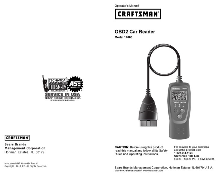 Craftsman User's Manual Sample