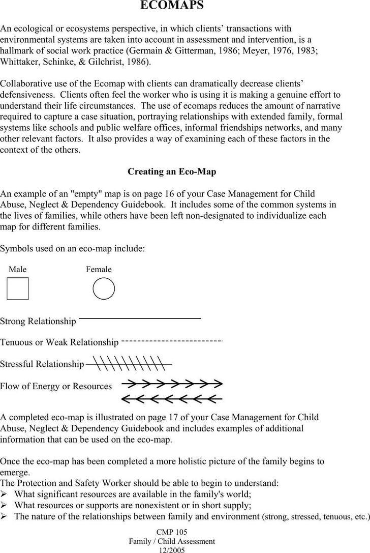 Creating an Ecomap PDF Fornat