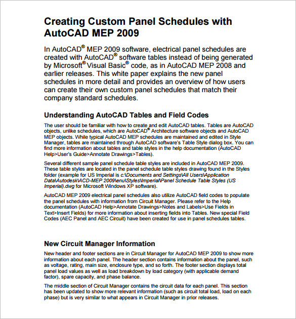 Panel Schedule Templates Radioincogible