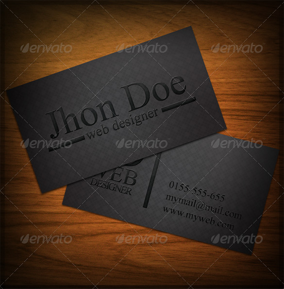 Creative Black Business Card For You