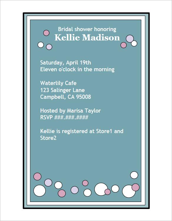 Creative Bridal Shower Invitation Wording