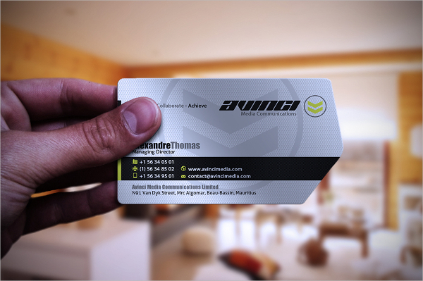 Creative Die Cut Business Card