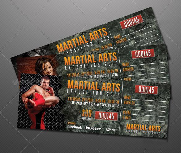 Creative Event Ticket Template Design