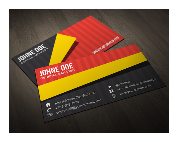 Creative Folded Business Card
