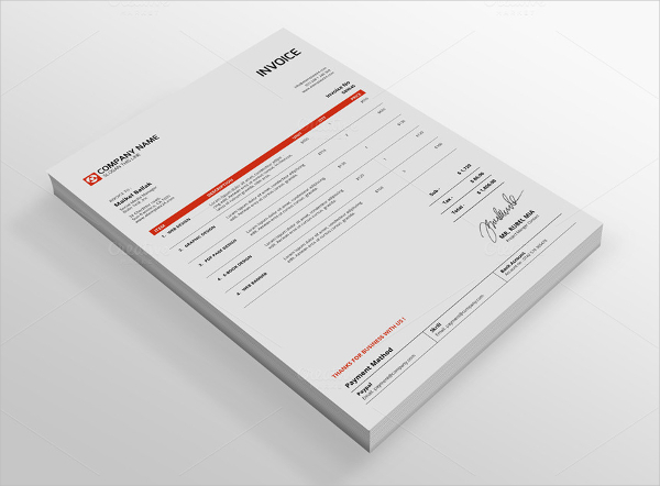 Creative Indesign Invoice Template