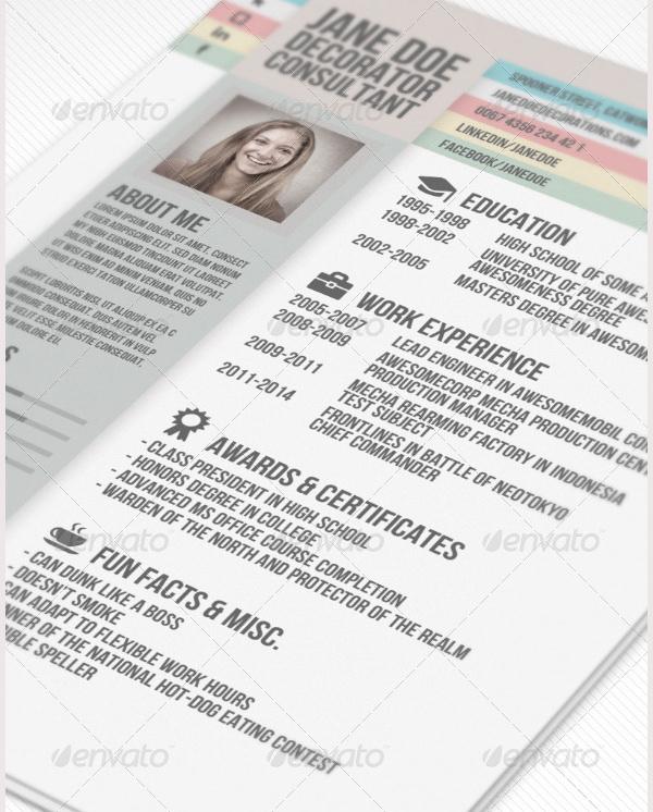 creative resume template free premium