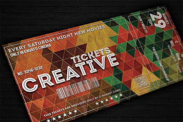 Creative Ticket Template Design for Movie Night