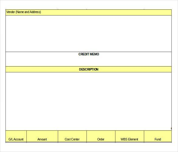 Credit Note Form Free Doc Format Download