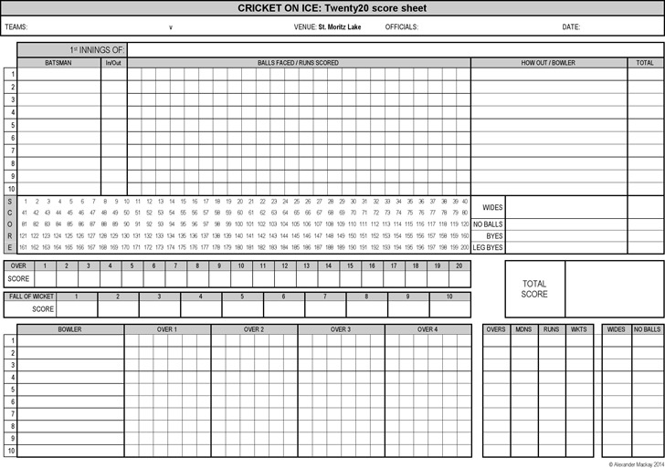 Cricket Score Sheet Cricket Score Sheet  Download Free  Premium