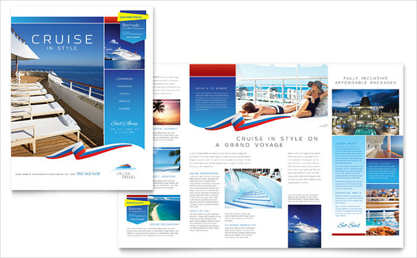 Cruise Travel Brochure Template