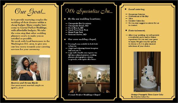 Crystal Perfect Wedding Planner Brochure