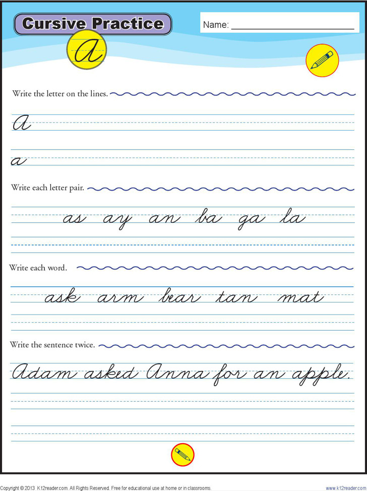 names in cursive writing