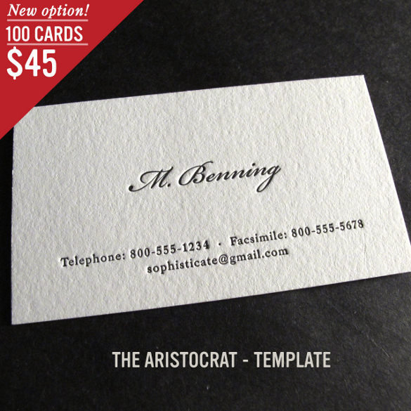 Custom Letterpress Business Card Download
