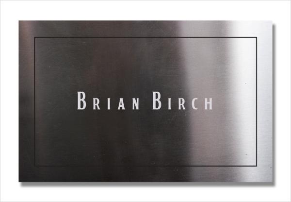 Custom Metal Business Card Template